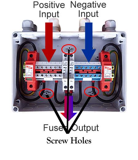 junction box postive/negative
