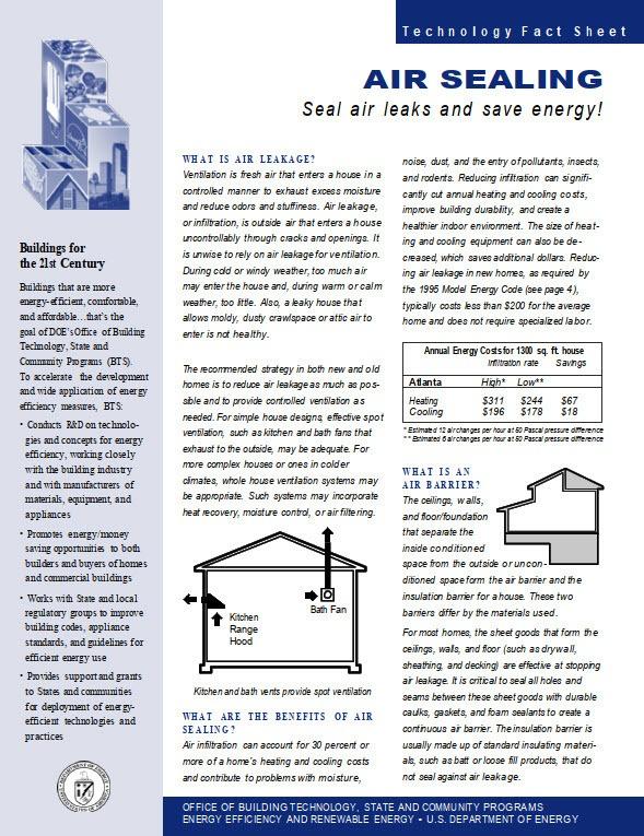 air sealing checklist